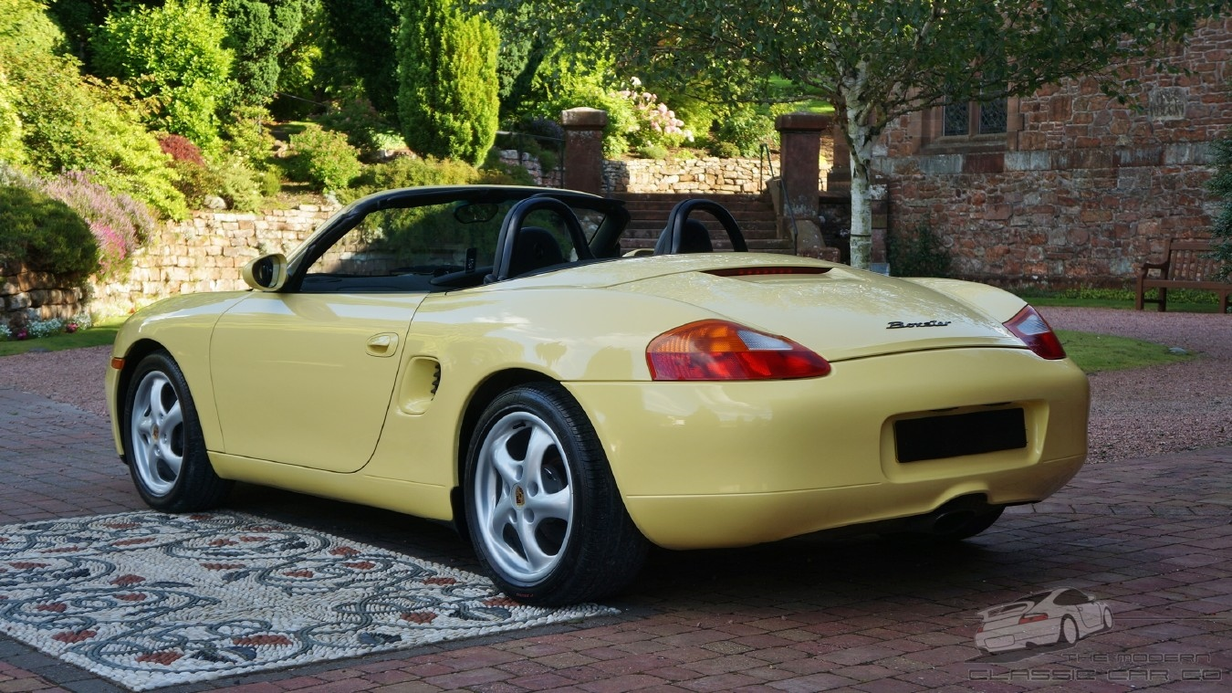 immaculate car in rare pastel yellow porsche boxster fsh 2 5 1999 ebay. Black Bedroom Furniture Sets. Home Design Ideas